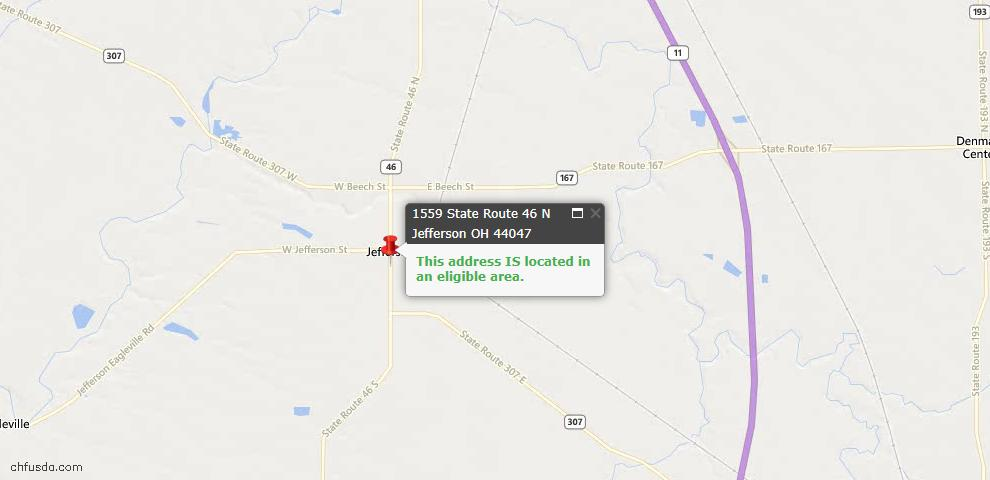 USDA Loan Eligiblity Maps From - 44047, OH
