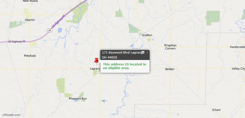 USDA Loan Eligiblity Map - 171 Keywood Unit SL5, Vermilion, OH 44050