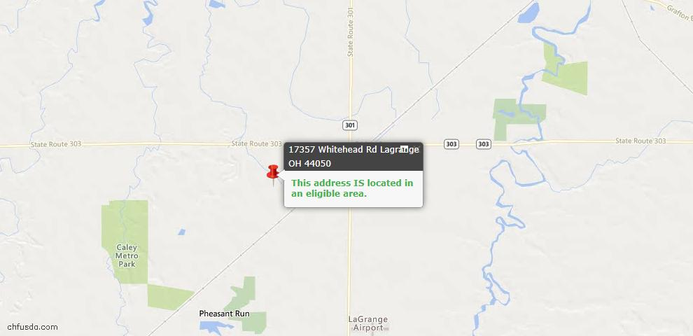 USDA Loan Eligiblity Maps From - Lagrange, OH