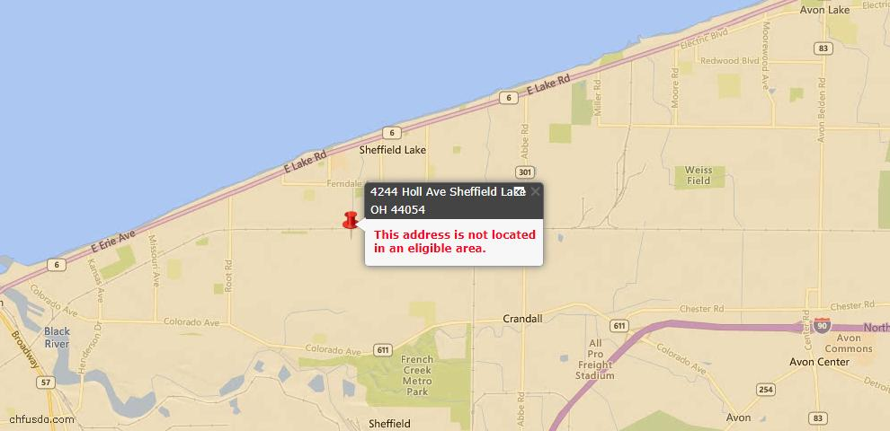 USDA Loan Eligiblity Maps From - Sheffield Lake, OH