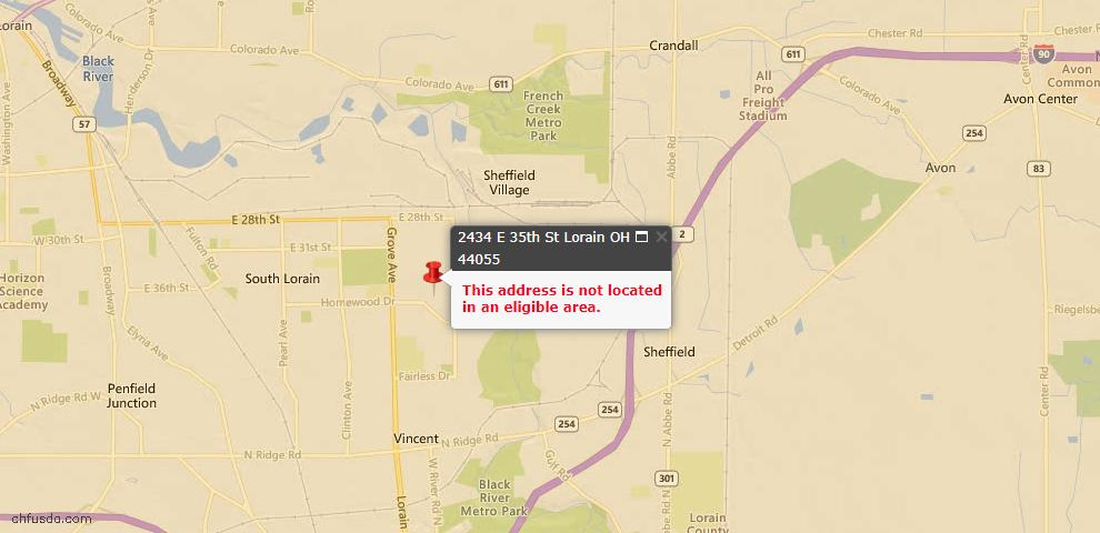 USDA Loan Eligiblity Maps From - 44055, OH