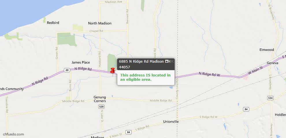 USDA Loan Eligiblity Maps From - Lake County, OH