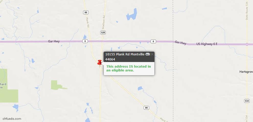USDA Loan Eligiblity Maps From - Montville, OH