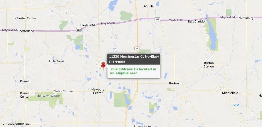 USDA Loan Eligiblity Map - 11230 Morningstar Ct, Newbury, OH 44065