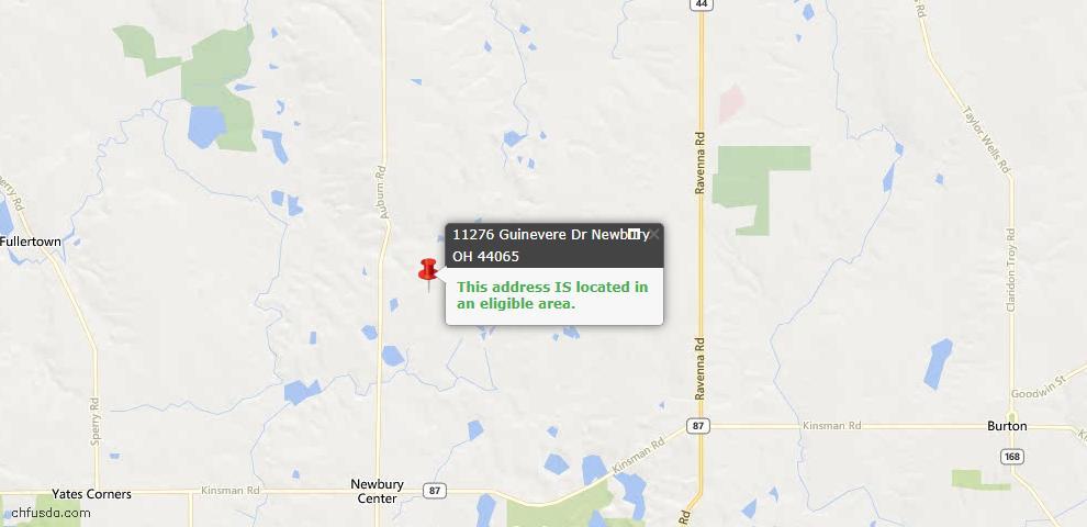 USDA Loan Eligiblity Maps From - Newbury, OH