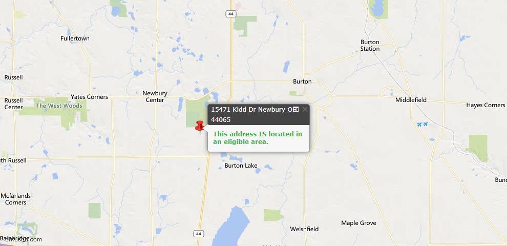 USDA Loan Eligiblity Map - 15471 Kidd Dr, Newbury, OH 44065