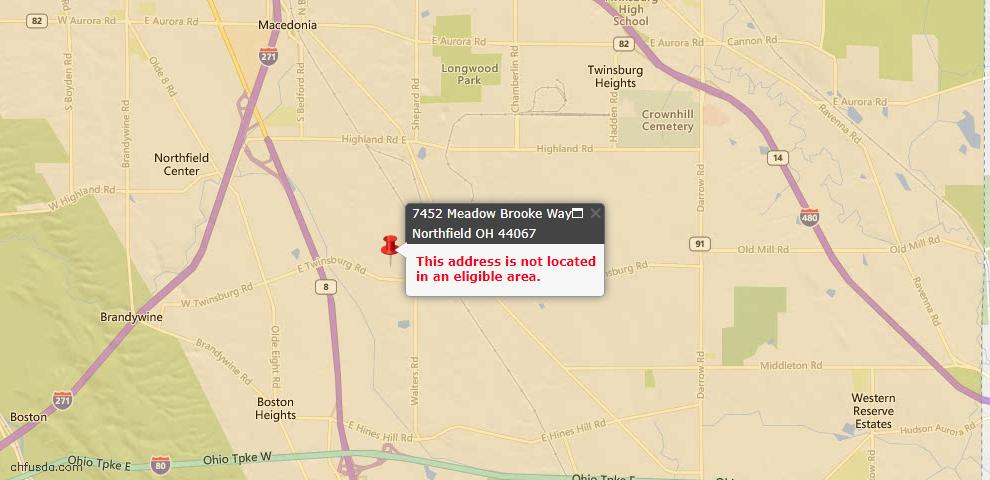 USDA Loan Eligiblity Maps From - 44067, OH