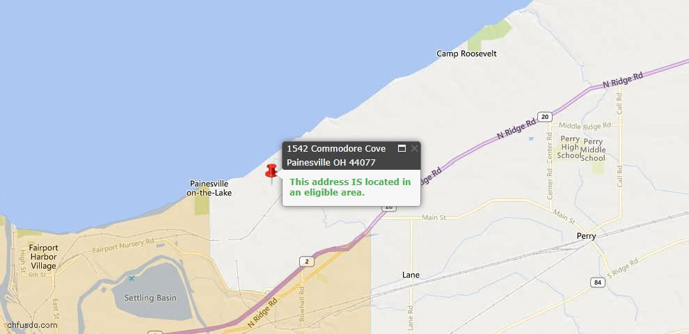 USDA Loan Eligiblity Maps From - Painesville, OH