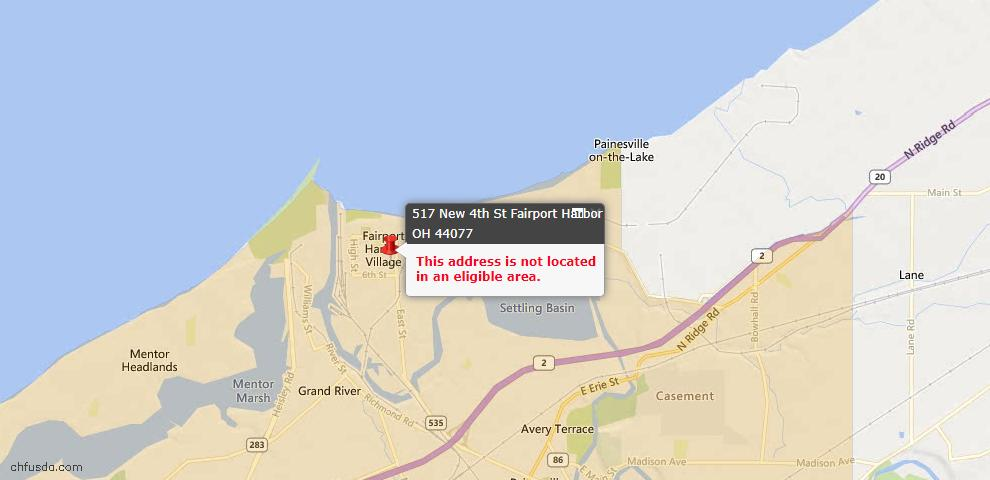 USDA Loan Eligiblity Maps From - Fairport Harbor, OH