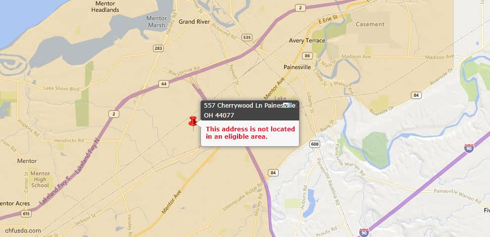 USDA Loan Eligiblity Maps From - Painesville Township, OH
