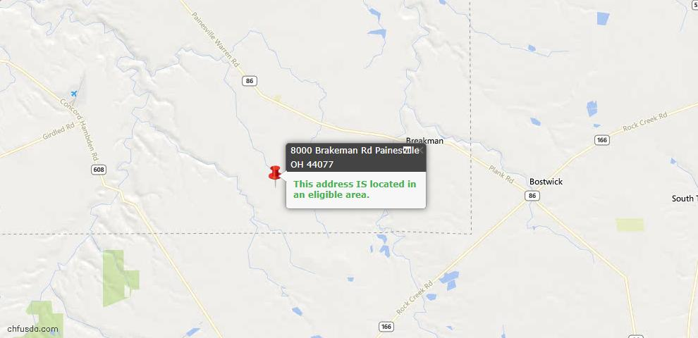 USDA Loan Eligiblity Maps From - Leroy, OH