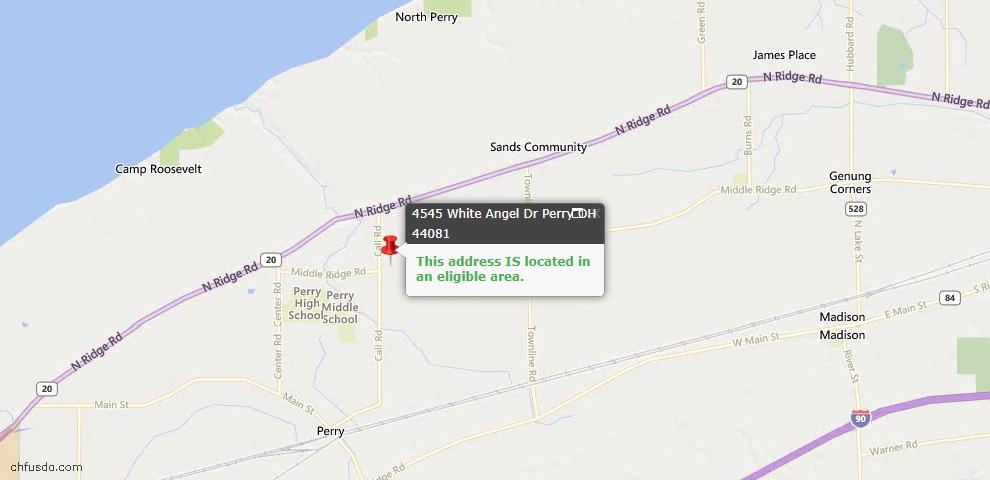 USDA Loan Eligiblity Maps From - Perry, OH