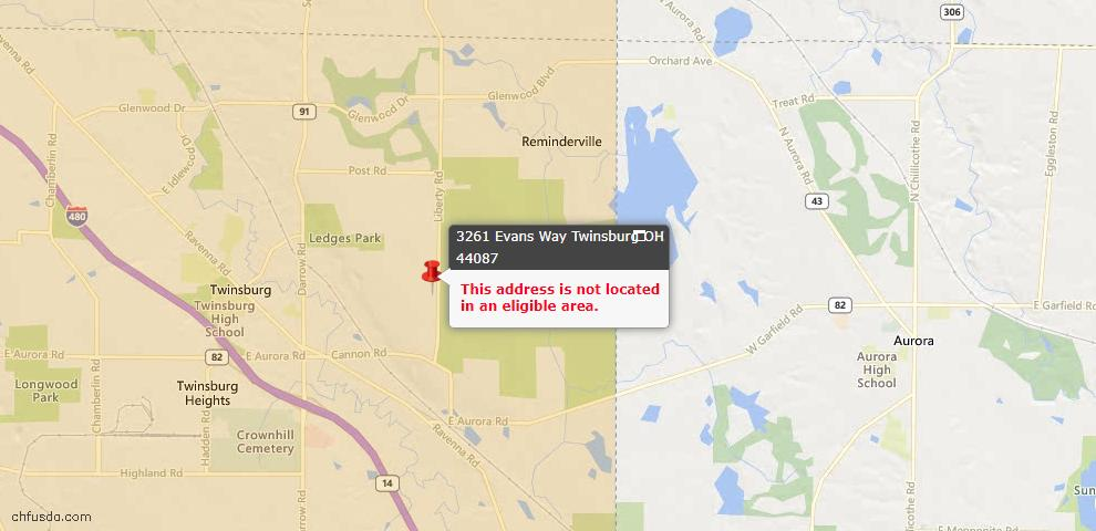 USDA Loan Eligiblity Maps From - Twinsburg, OH