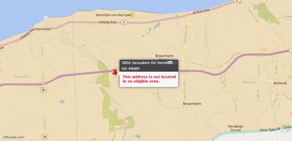 USDA Loan Eligiblity Maps From - Vermilion, OH