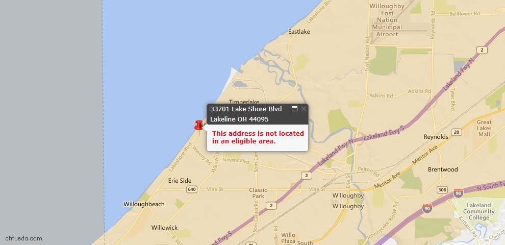 USDA Loan Eligiblity Maps From - Lakeline, OH
