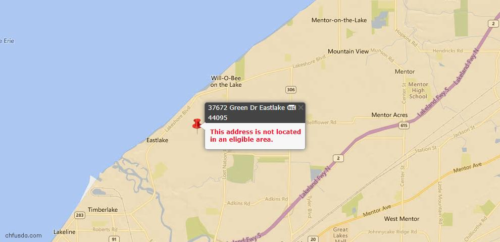 USDA Loan Eligiblity Maps From - Eastlake, OH