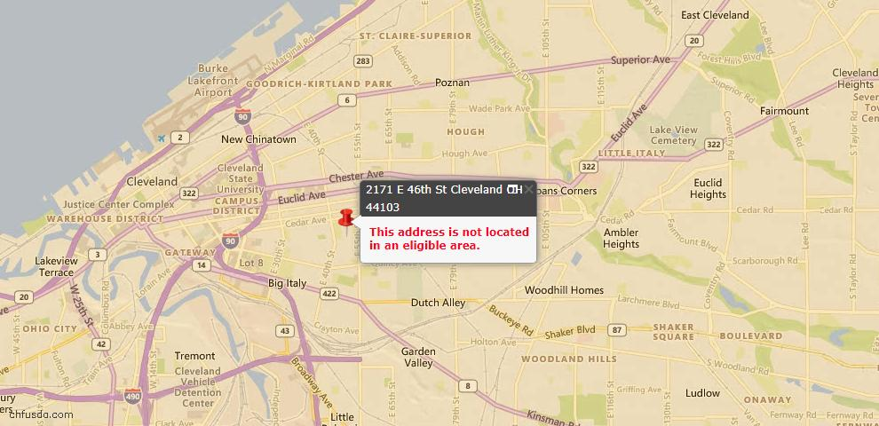 USDA Loan Eligiblity Maps From - 44103, OH