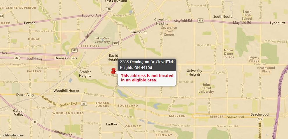 USDA Loan Eligiblity Maps From - 44106, OH