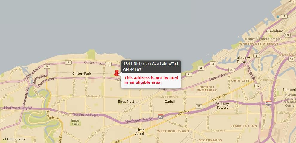 USDA Loan Eligiblity Maps From - Lakewood, OH
