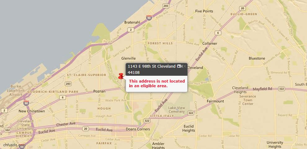 USDA Loan Eligiblity Maps From - 44108, OH