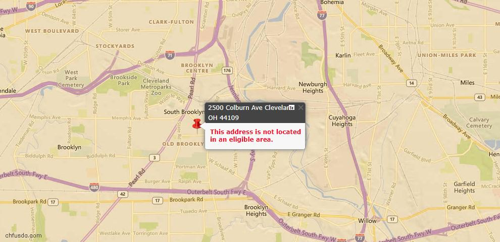 USDA Loan Eligiblity Maps From - 44109, OH