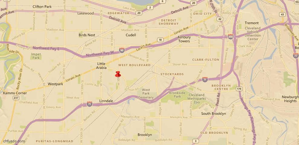 USDA Loan Eligiblity Map - 10601 Saint Mark Ave, Cleveland, OH 44111