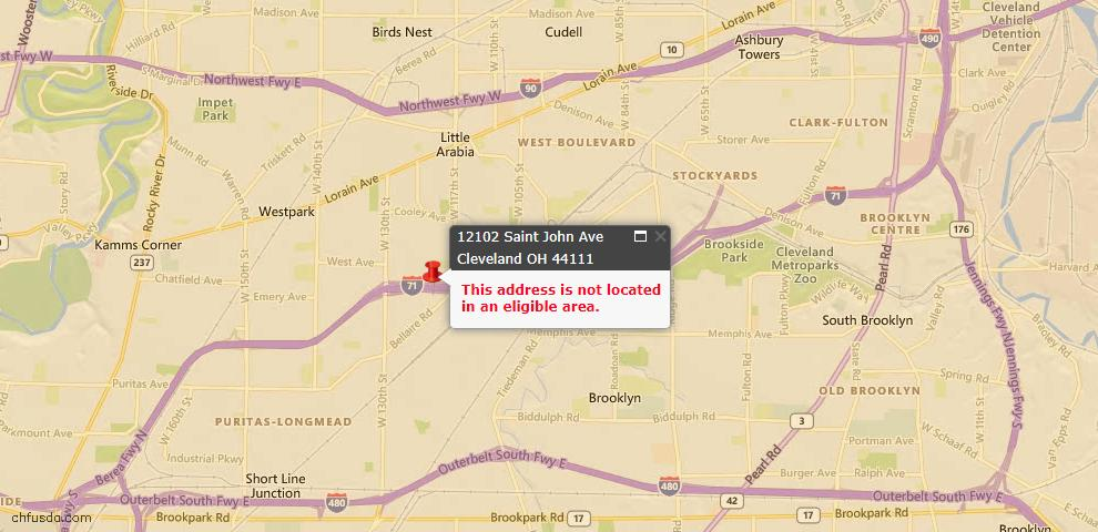 USDA Loan Eligiblity Maps From - 44111, OH