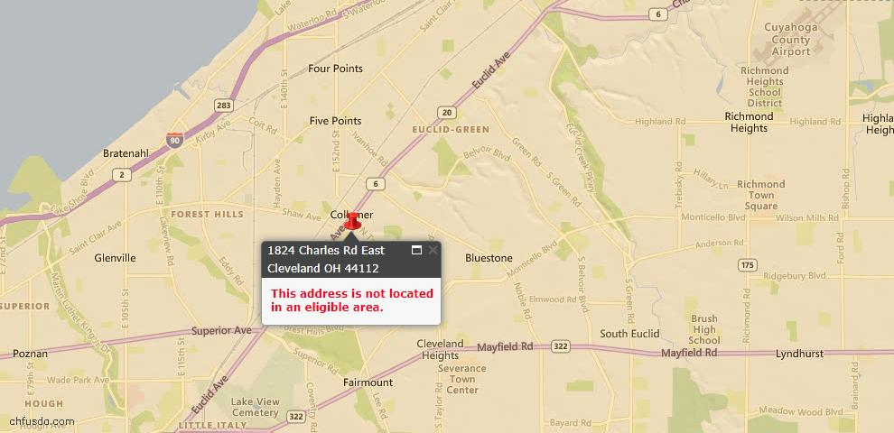 USDA Loan Eligiblity Maps From - East Cleveland, OH