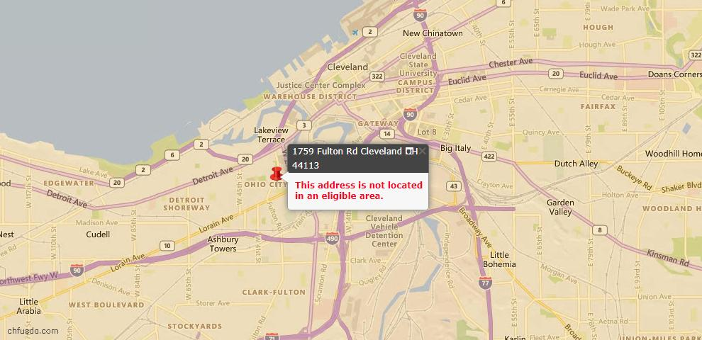 USDA Loan Eligiblity Maps From - Cleveland, OH