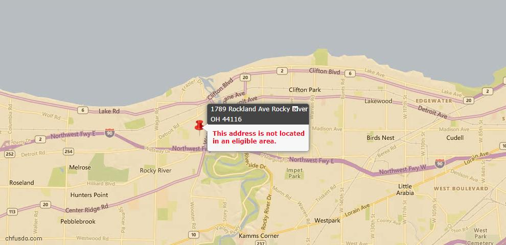 USDA Loan Eligiblity Maps From - Rocky River, OH