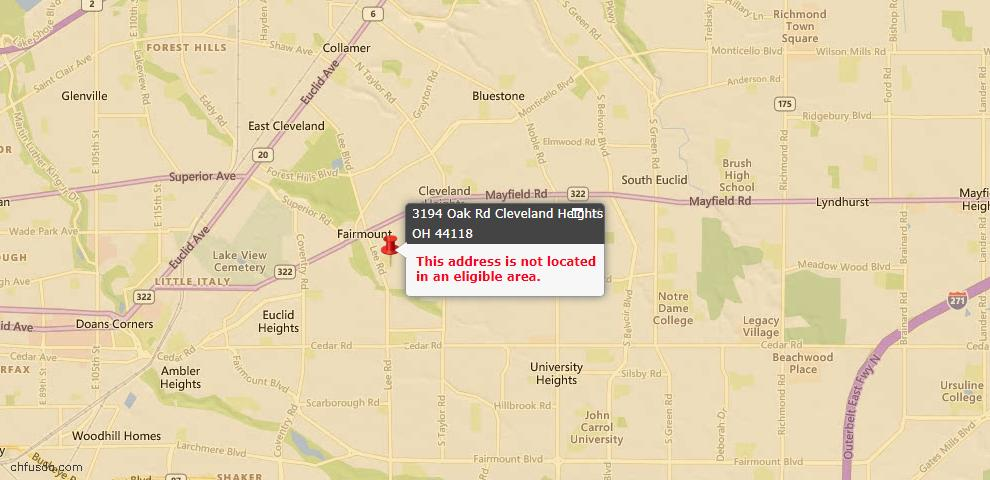 USDA Loan Eligiblity Maps From - Cleveland Heights, OH