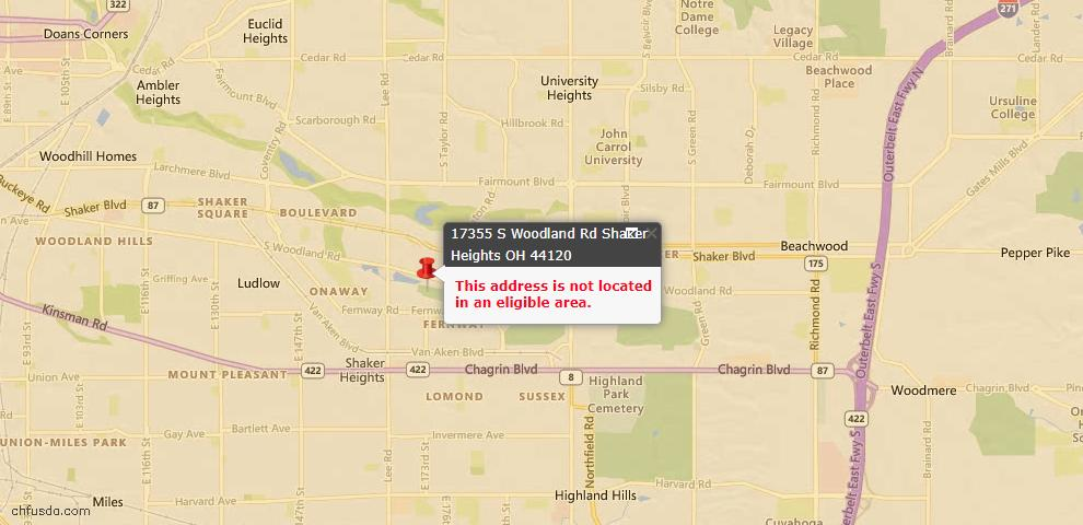 USDA Loan Eligiblity Maps From - 44120, OH
