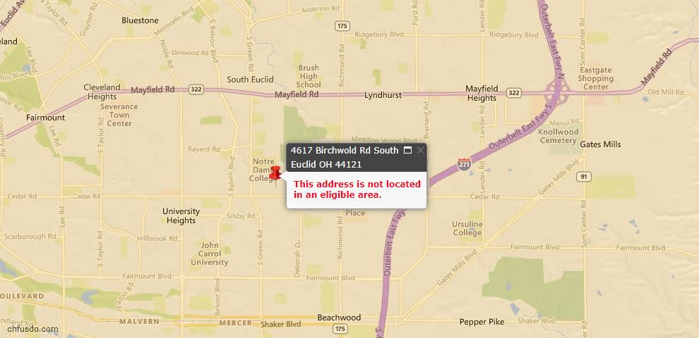 USDA Loan Eligiblity Maps From - 44121, OH