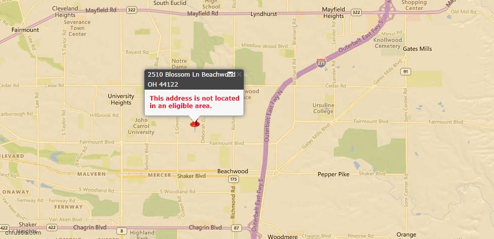 USDA Loan Eligiblity Maps From - Beachwood, OH