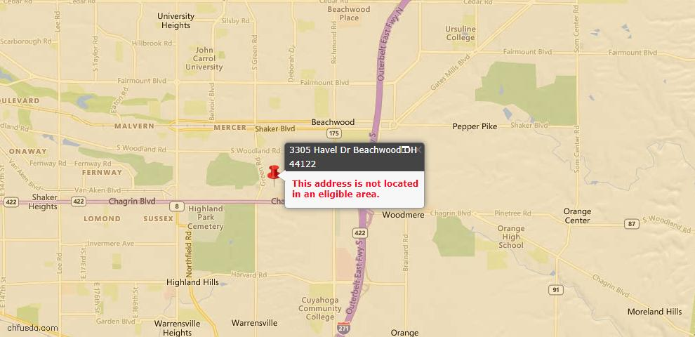 USDA Loan Eligiblity Maps From - 44122, OH