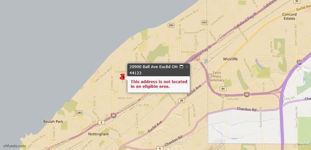 USDA Loan Eligiblity Maps From - 44123, OH