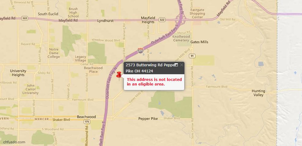 USDA Loan Eligiblity Maps From - Pepper Pike, OH
