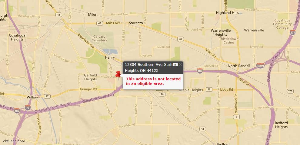 USDA Loan Eligiblity Maps From - 44125, OH
