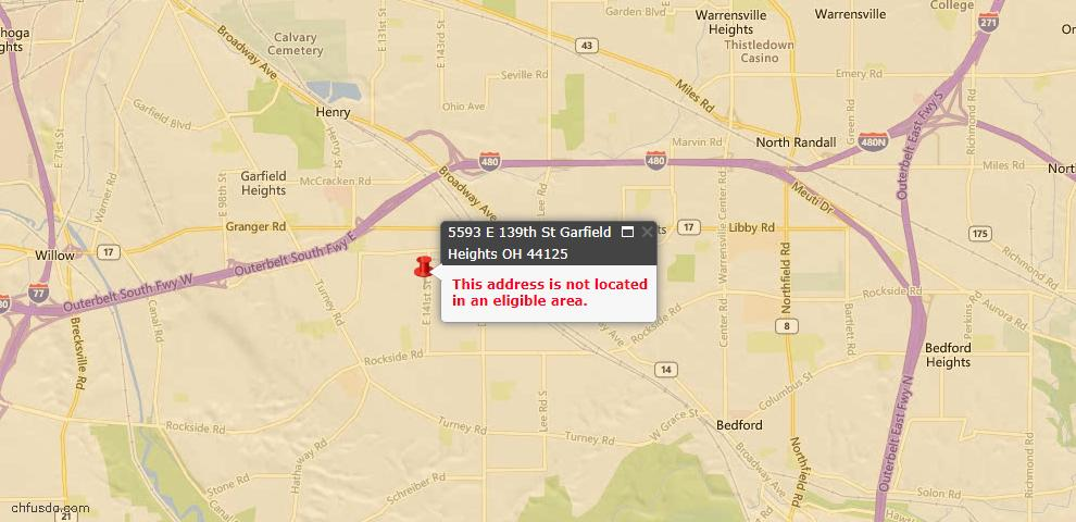 USDA Loan Eligiblity Maps From - Garfield Heights, OH