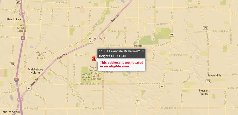 USDA Loan Eligiblity Maps From - 44130, OH