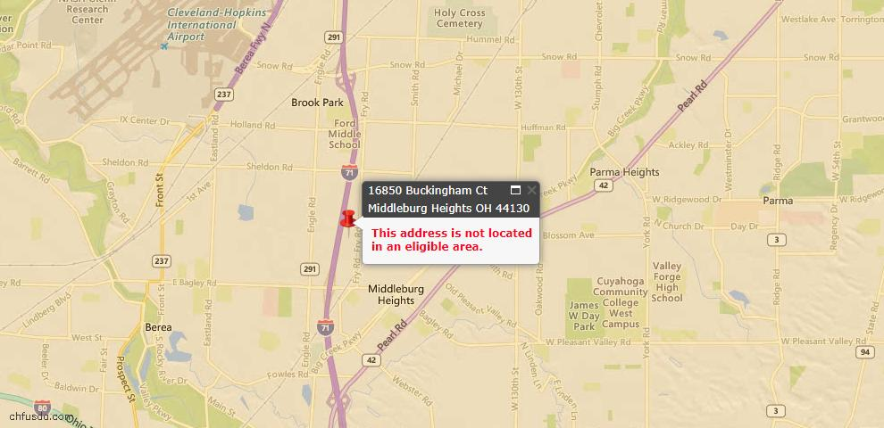 USDA Loan Eligiblity Maps From - Middleburg Heights, OH
