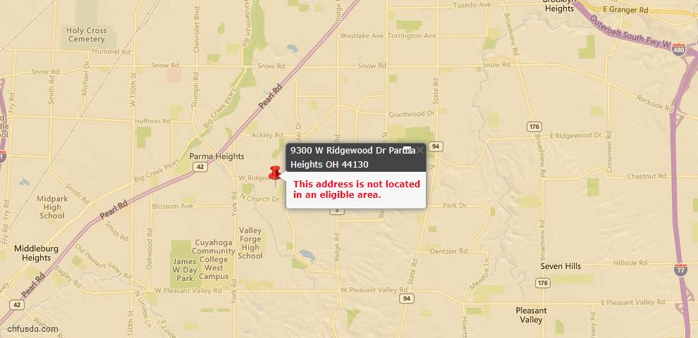 USDA Loan Eligiblity Maps From - Parma Heights, OH