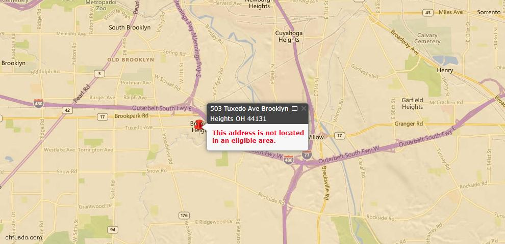 USDA Loan Eligiblity Maps From - Brooklyn Heights, OH