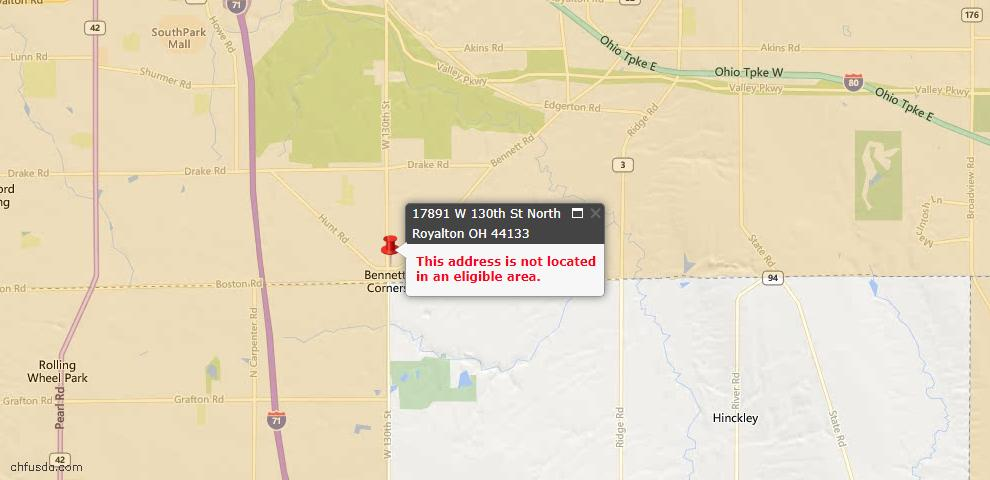 USDA Loan Eligiblity Maps From - North Royalton, OH