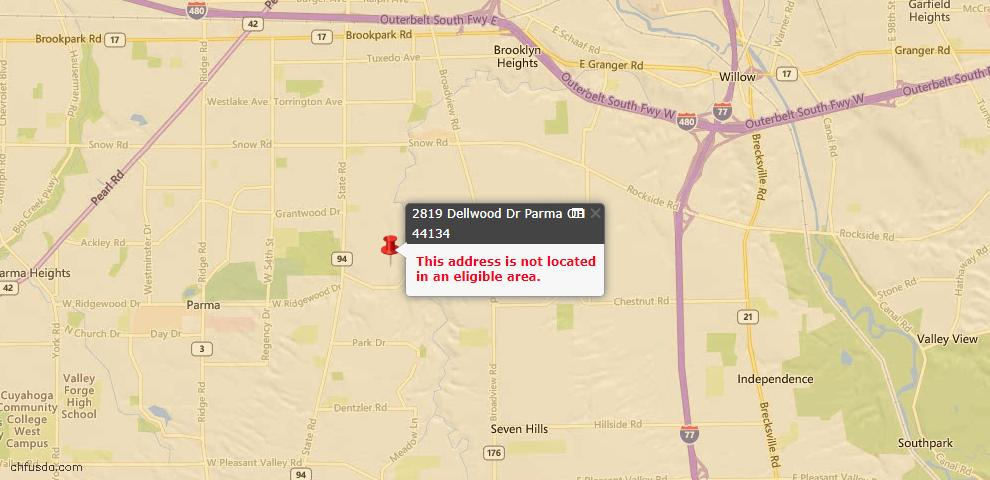 USDA Loan Eligiblity Maps From - Parma, OH