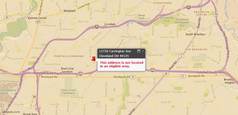 USDA Loan Eligiblity Maps From - 44135, OH