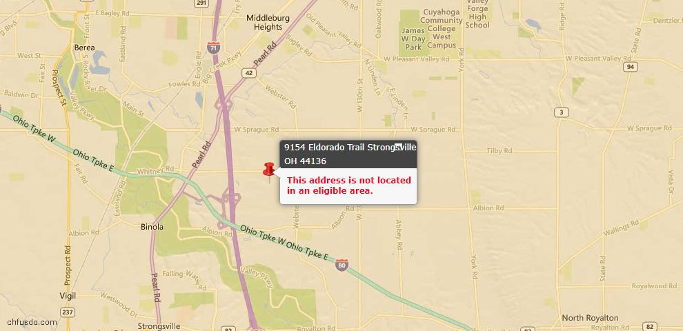 USDA Loan Eligiblity Maps From - Strongsville, OH