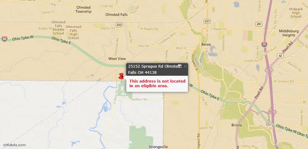 USDA Loan Eligiblity Maps From - Olmsted Falls, OH