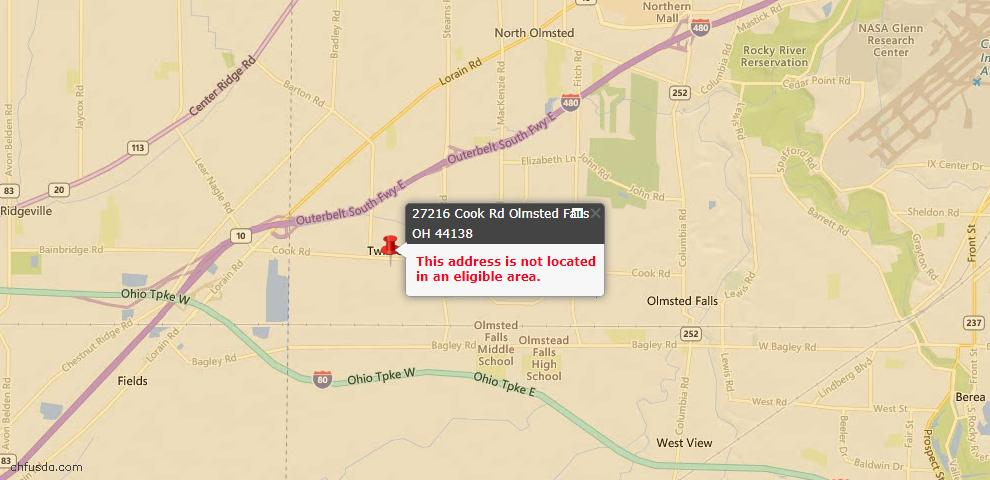 USDA Loan Eligiblity Maps From - Olmsted Township, OH