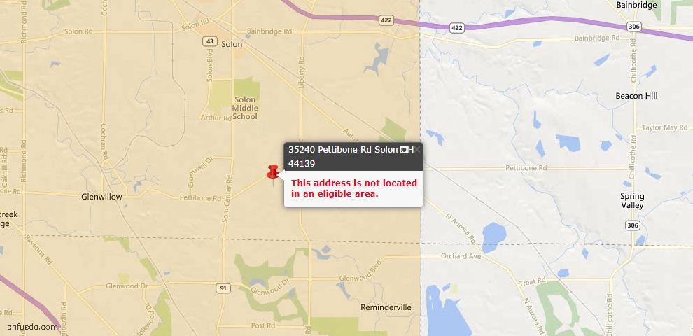USDA Loan Eligiblity Maps From - Solon, OH